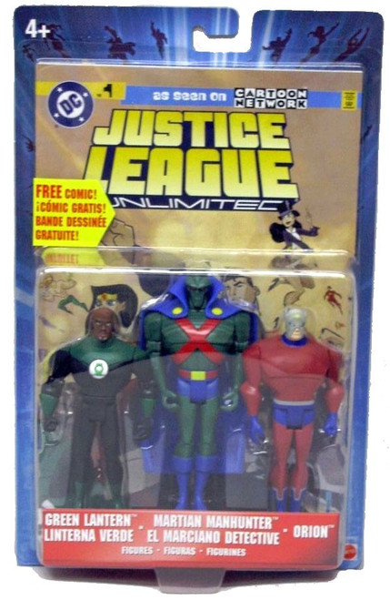 Justice League Unlimited Series 5 Green Lantern, Martian Manhunter & Orion Action Figure 3-Pack
