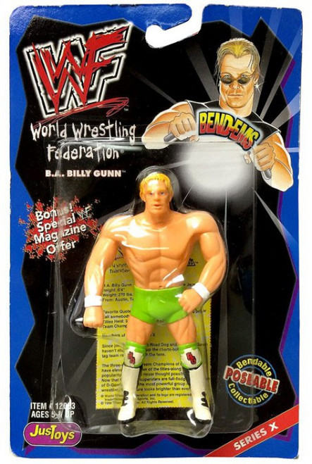 WWE Wrestling WWF Bend-Ems Series 10 Billy Gunn Rubber Figure