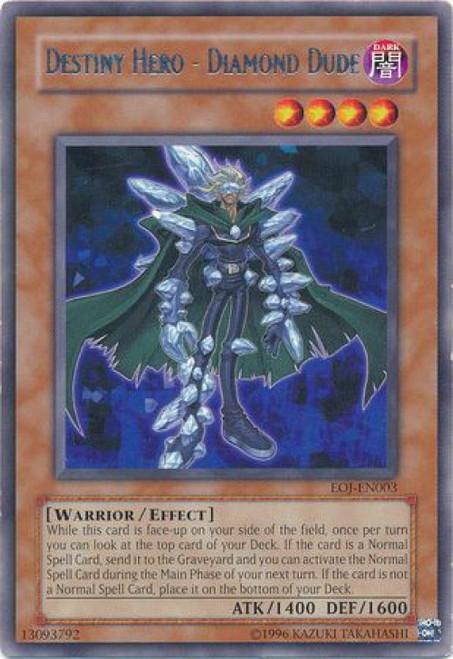 YuGiOh GX Trading Card Game Enemy of Justice Rare Destiny Hero - Diamond Dude EOJ-EN003