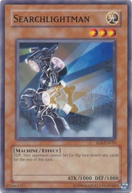 YuGiOh GX Trading Card Game Enemy of Justice Common Searchlightman EOJ-EN010