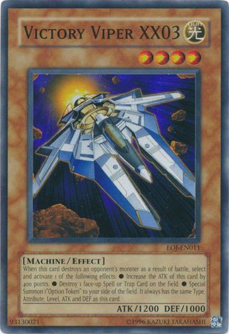 YuGiOh GX Trading Card Game Enemy of Justice Super Rare Victory Viper XX03 EOJ-EN011