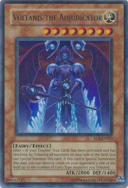 YuGiOh GX Trading Card Game Enemy of Justice Ultra Rare Voltanis the Adjudicator EOJ-EN023
