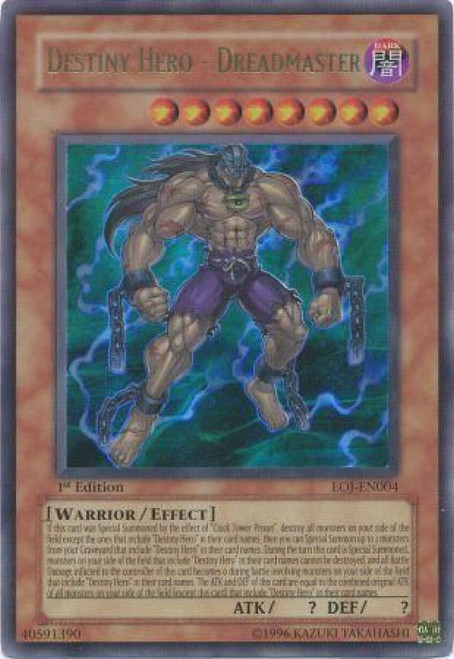 YuGiOh GX Enemy of Justice Ultra Rare Destiny Hero - Dreadmaster EOJ-EN004