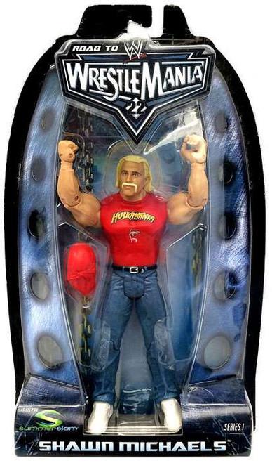 WWE Wrestling Road to WrestleMania 22 Series 1 Shawn Michaels as Hulk Hogan Action Figure