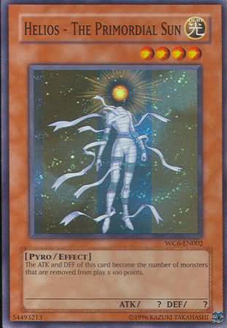 YuGiOh GX Trading Card Game Ultimate Masters Super Rare Helios - the Primordial Sun WC6-EN002