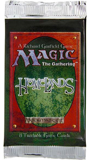 MtG Trading Card Game Homelands Booster Pack [8 Cards]