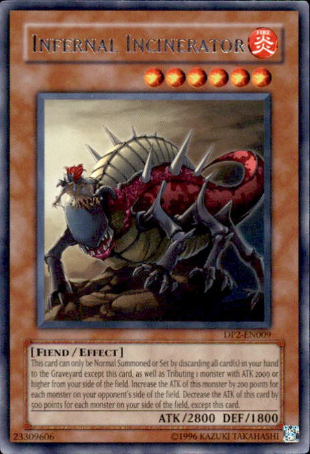 YuGiOh GX Trading Card Game Duelist Pack Chazz Rare Infernal Incinerator DP2-EN009