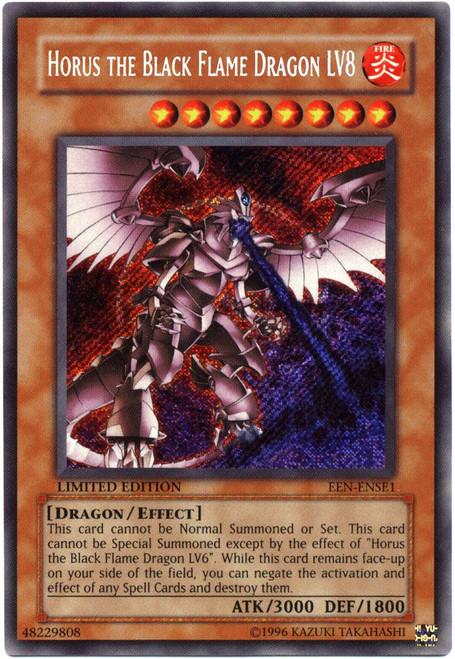 YuGiOh Elemental Energy Special Edition Secret Rare Horus the Black Flame Dragon LV8 EEN-ENSE1