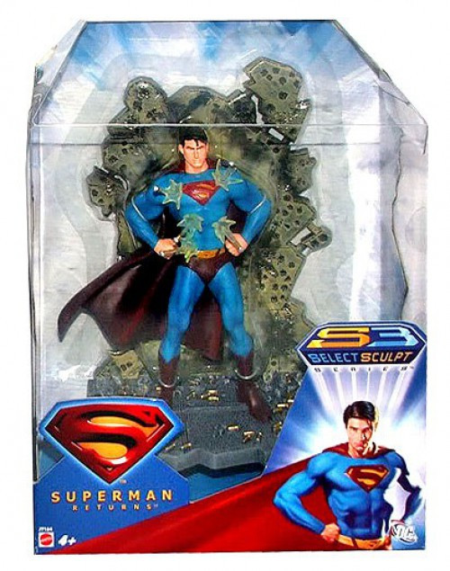 Superman Returns Select Sculpt Superman Figure [Invulnerable]
