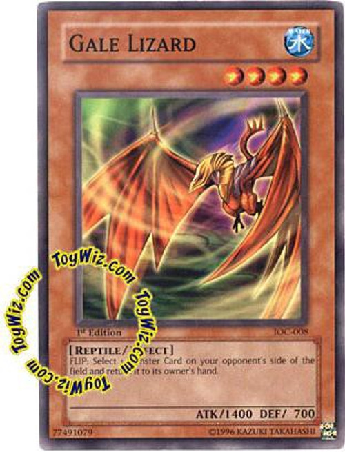 YuGiOh Invasion of Chaos Common Gale Lizard IOC-008