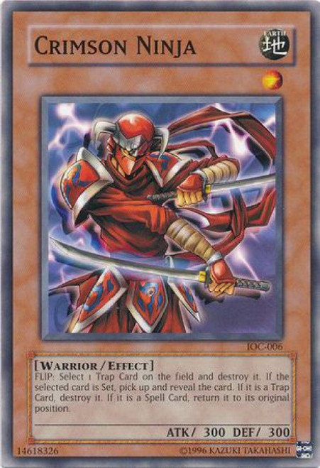 YuGiOh Invasion of Chaos Common Crimson Ninja IOC-006