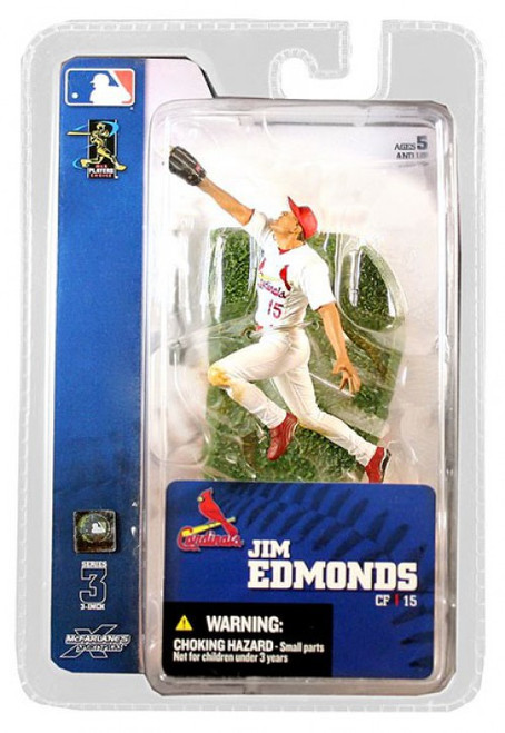 McFarlane Toys MLB St. Louis Cardinals Sports Picks 3 Inch Mini Series 3 Jim Edmonds Mini Figure
