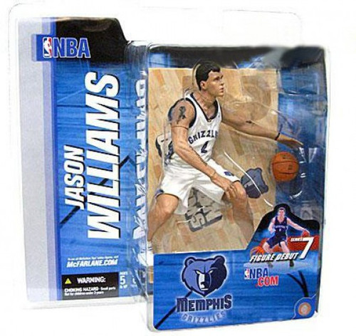 McFarlane Toys NBA Memphis Grizzlies Sports Picks Series 7 Jason Williams Action Figure [White Jersey Variant]