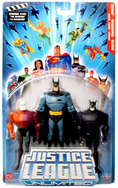 Justice League Unlimited Series 4 Metamorpho, Batman & Wildcat Action Figure 3-Pack