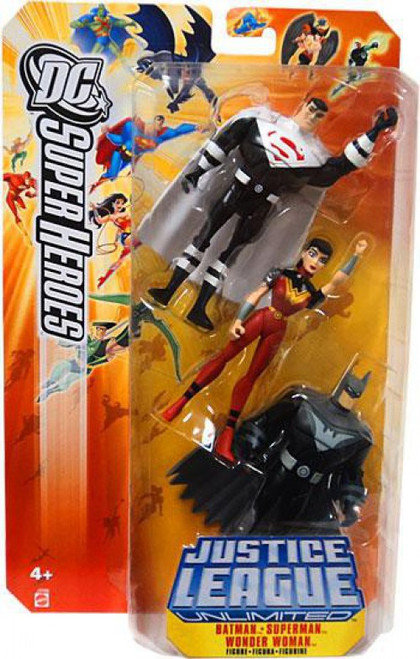 DC Justice League Unlimited Super Heroes Batman, Superman & Wonder Woman Action Figures [Justice Lords]