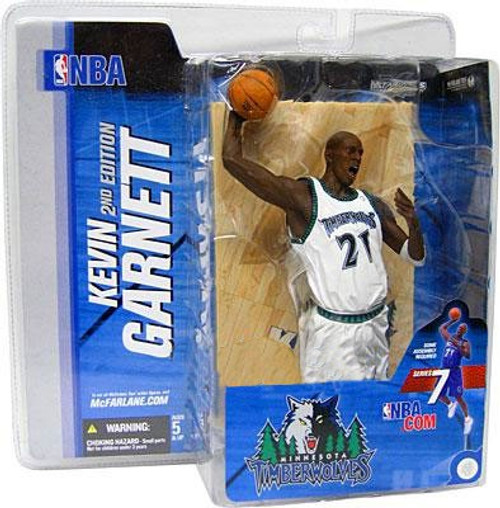 McFarlane Toys NBA Minnesota Timberwolves Sports Picks Series 7 Kevin Garnett Action Figure [White Jersey Variant]