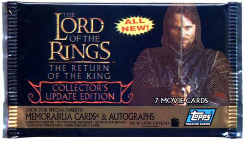 The Lord of the Rings Movie Collector's Update Edition The Return of the King Trading Card Pack [7 Cards]