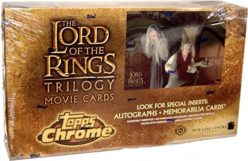 The Lord of the Rings Chrome Trilogy Movie Trading Card Box [36 Packs]