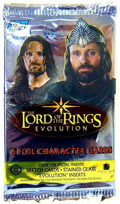 The Lord of the Rings Topps Evolution Trading Card Pack [6 Cards]