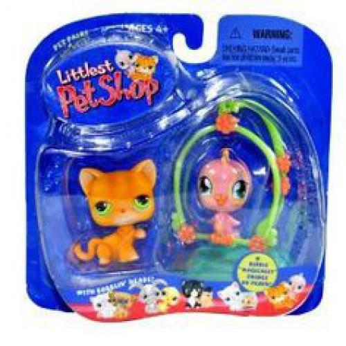 Littlest Pet Shop Pet Pairs Kitten & Bird On Perch Figure 2-Pack