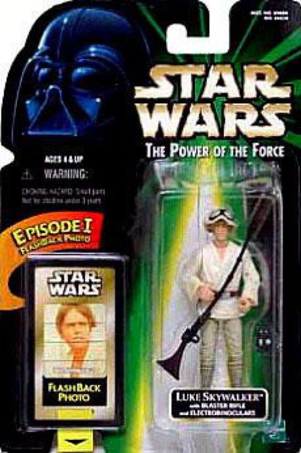 Star Wars A New Hope Power of the Force POTF2 Flashback Luke Skywalker Action Figure [Blaster Rifle & Electrobinoculars]