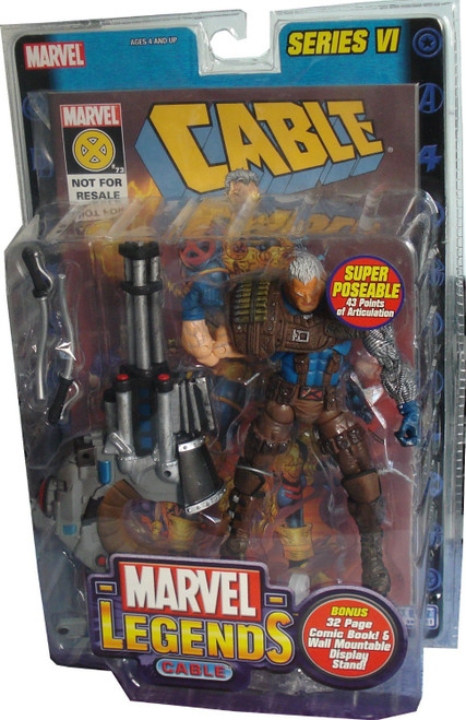 Marvel Legends Series 6 Cable Action Figure [Brown Pants Variant]