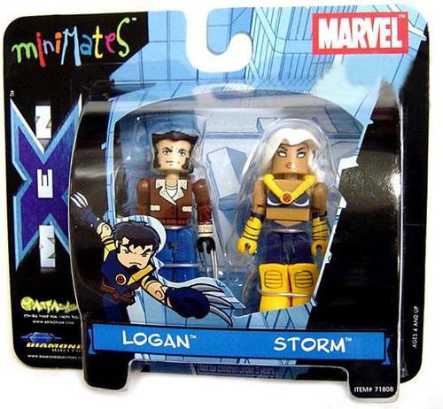 Marvel Minimates Logan & Storm Minifigure 2-Pack