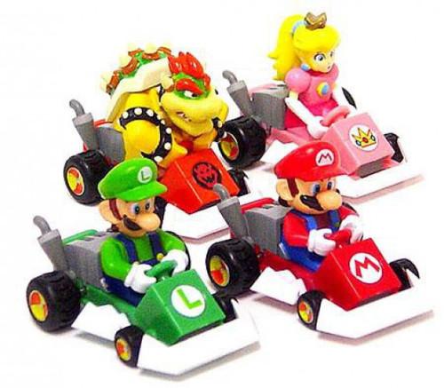 Super Mario Mario Kart DS Set of 4 Pull Back Racers
