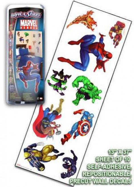 Marvel Heroes Marvel Battle Dice Wall Stars Wall Decals [10 Count]