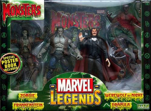 Marvel Legends Monsters Action Figure 4-Pack Boxed Set [Zombie, Frankenstein, Werewolf & Dracula]