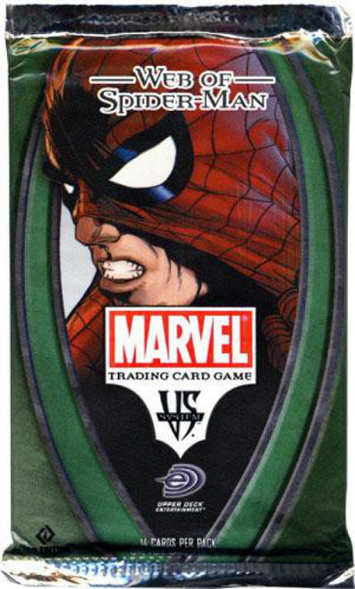 Marvel VS System Trading Card Game Web of Spider-Man Booster Pack