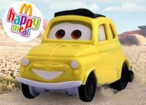 Disney / Pixar Cars McDonald's Happy Meal Luigi Plastic Car #7