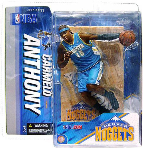 McFarlane Toys NBA Denver Nuggets Sports Picks Series 11 Carmelo Anthony Action Figure [Light Blue Jersey]