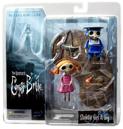 McFarlane Toys Corpse Bride Series 2 Skeleton Girl & Boy Action Figure 2-Pack