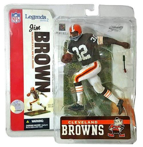 McFarlane Toys NFL Cleveland Browns Sports Picks Legends Series 2 Jim Brown Action Figure [Brown Jersey]