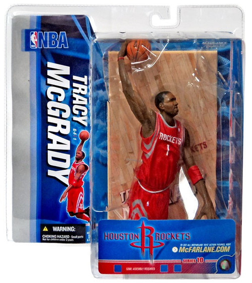 McFarlane Toys NBA Houston Rockets Sports Picks Series 10 Tracy McGrady Action Figure [Red Jersey]