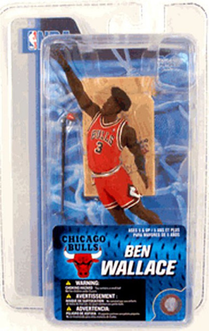 McFarlane Toys NBA Chicago Bulls Sports Picks 3 Inch Mini Series 4 Ben Wallace Mini Figure
