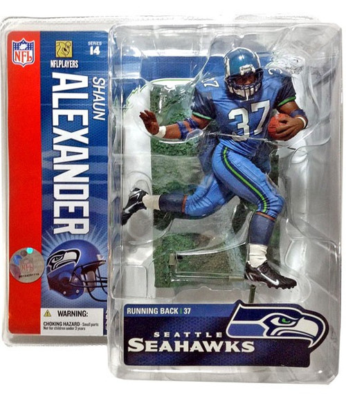 McFarlane Toys NFL Seattle Seahawks Sports Picks Series 14 Shaun Alexander Action Figure [Teal Uniform]