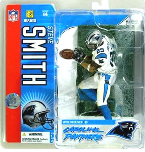McFarlane Toys NFL Carolina Panthers Sports Picks Series 14 Steve Smith Action Figure [White Jersey]