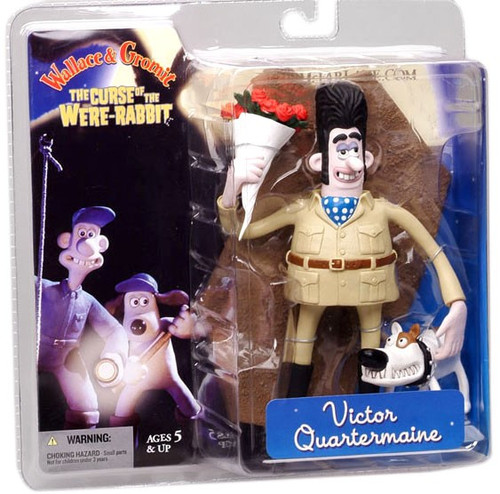 McFarlane Toys Wallace and Gromit The Curse of the Were-Rabbit Victor Quartermaine Action Figure