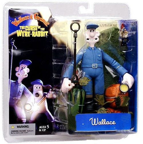McFarlane Toys Wallace and Gromit The Curse of the Were-Rabbit Wallace Action Figure [With Flashlight]