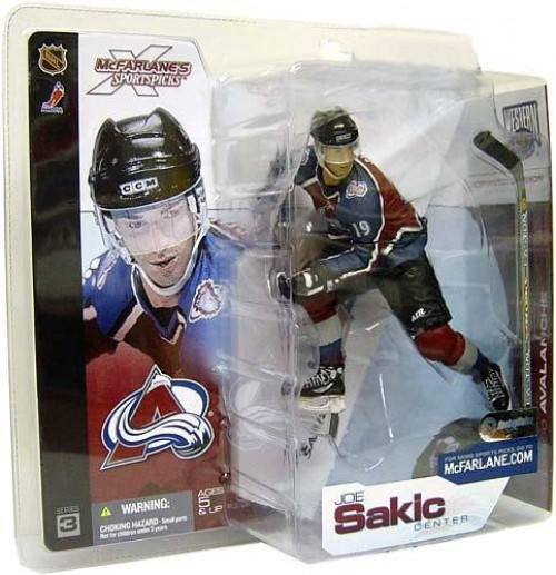 McFarlane Toys NHL Colorado Avalanche Sports Picks Series 3 Joe Sakic Action Figure [Blue Jersey]