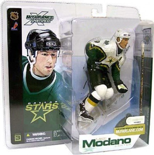 McFarlane Toys NHL Dallas Stars Sports Picks Series 3 Mike Modano Action Figure [White Jersey Variant]