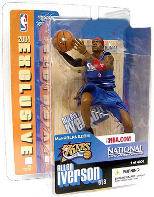 McFarlane Toys NBA Philadelphia 76ers National Allen Iverson Exclusive Action Figure