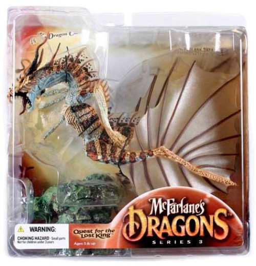 McFarlane Toys Dragons Quest for the Lost King Series 3 Water Clan Dragon 3 Action Figure