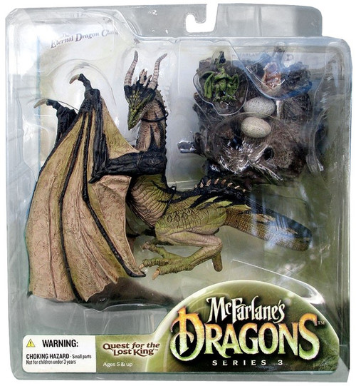 McFarlane Toys Dragons Quest for the Lost King Series 3 Eternal Clan Dragon 3 Action Figure