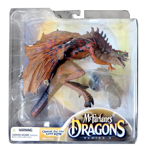 McFarlane Toys Dragons Quest for the Lost King Series 3 Berserker Clan Dragon 3 Action Figure