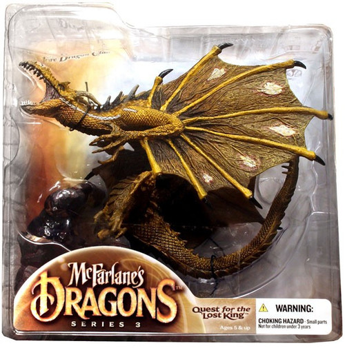McFarlane Toys Dragons Quest for the Lost King Series 3 Fire Clan Dragon 3 Action Figure