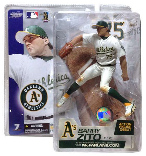 McFarlane Toys MLB Oakland A's Sports Picks Series 7 Barry Zito Action Figure [White Jersey]