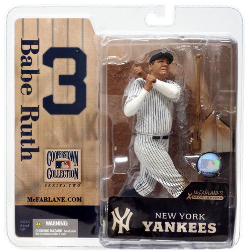 McFarlane Toys MLB Cooperstown Collection Series 2 Babe Ruth Action Figure [White Jersey]